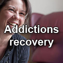 Addictions recovery button